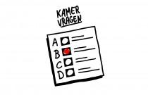 Logo bij Kamervragen, een quiz over de verkiezingen voor de Tweede Kamer.